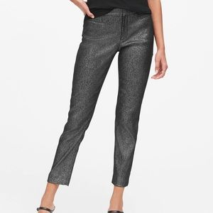🍐 Banana Republic Pant Skinny Metallic